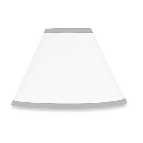 Sweet Jojo Designs Hotel Lamp Shade in White/Grey