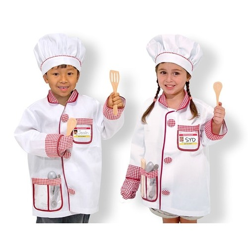 Melissa & Doug Pretend Play Chef Role Play Costume Set