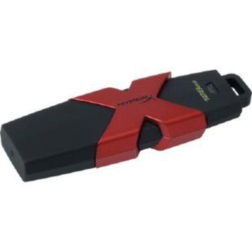 Kingston HyperX Savage 350 MBps Read/250 MBps Write USB Flash Drive, 128GB, Black/Metallic Red (HXS3/128GB)