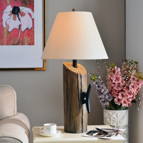 Kenroy Home Cole 30 in. Wood Table Lamp