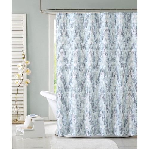 Colormate Zoey Shower Curtain - Blue