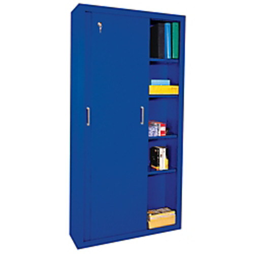 Sandusky Sliding-Door Storage Cabinet, Blue