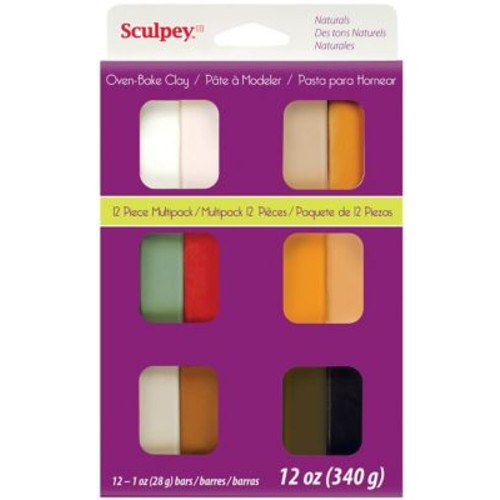 Polyform Naturals Sculpey III Multi Packs Oven Bake Polymer Clay
