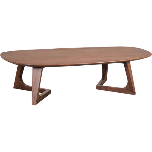 Aurelle Home Solid American Walnut Coffee Table