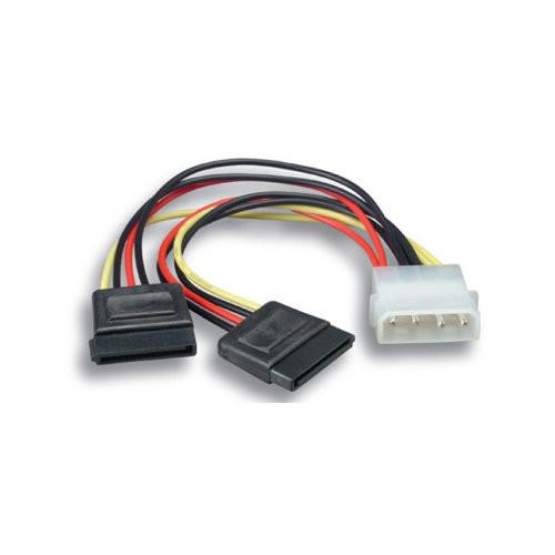 Comprehensive Serial ATA Power Adapter 5.25 M to SATA Power x 2