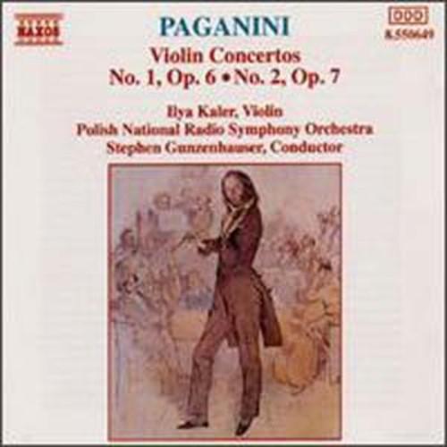 Paganini: Violin Concertos No. 1, Op. 6 & No. 2, Op. 7 Ilya Kaler Audio Compact Disc