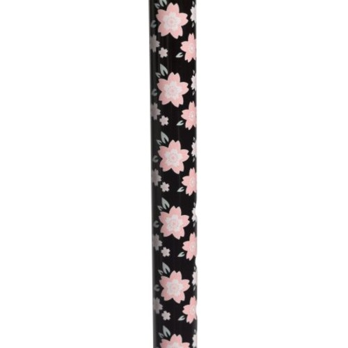 Drive Foam Grip Offset Handle Walking Cane - Pink Floral