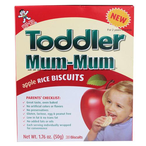 Hot Kid Toddler Mum Mum Rice Biscuits Apple -- 1.76 oz