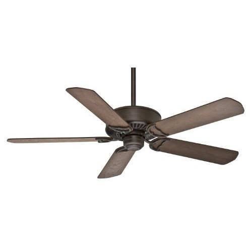 Casablanca 59512 Panama DC 54-Inch 5-Blade Ceiling Fan, Brushed Cocoa with Distressed Walnut/Burnt Walnut Blades [Cocoa]
