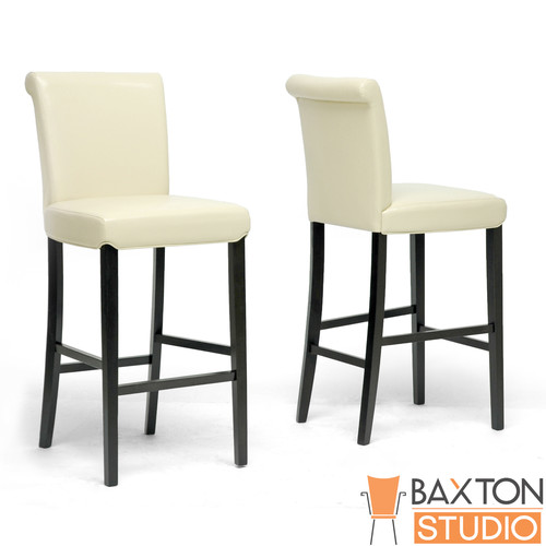 Baxton Studio Bianca Cream Modern Bar Stool-set of 2