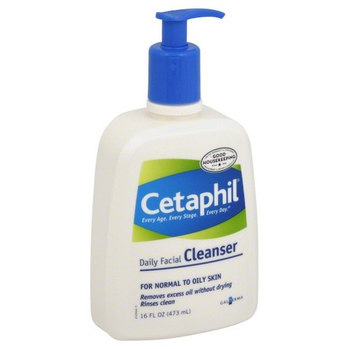 Cetaphil Facial Cleanser, Daily, for Normal to Oily Skin, 16 fl oz (473 ml)