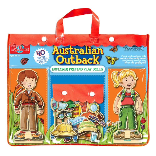 TS Shure Australian Outback Explorers Wooden Magnetic Pretend Play Dolls