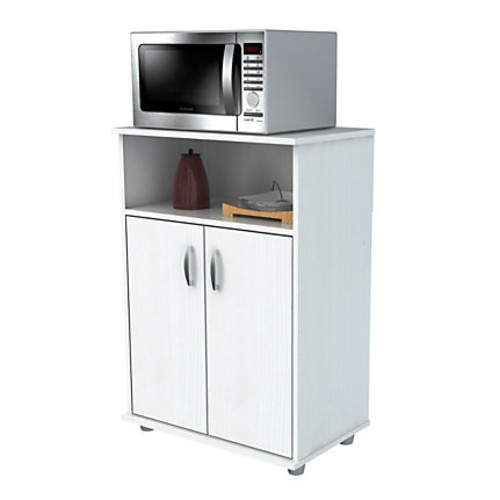 Inval Storage Cabinet With Microwave Stand, 3 Shelves, 33