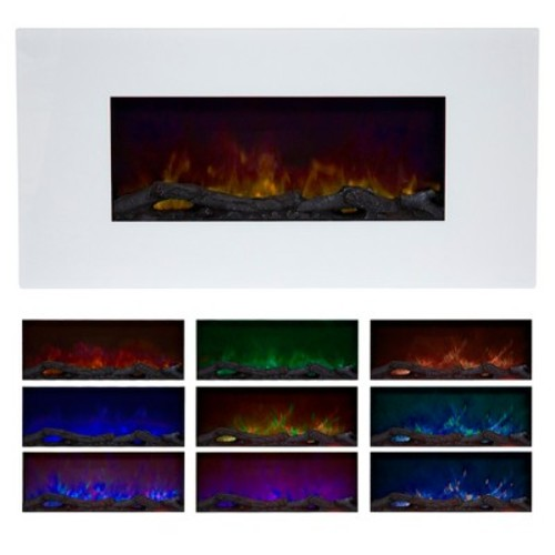 Northwest 36 in. Color Changing LED Electric Fireplace in White