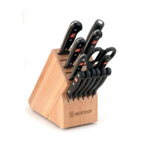 Wusthof Gourmet 14-Piece Knife Block Set in Natural