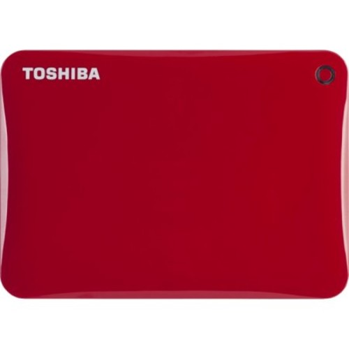 Toshiba - Canvio Connect II 2 TB External Hard Drive - Red