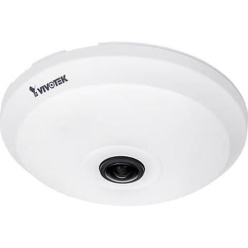 Vivotek FE9181-H - Network surveillance camera - dome - color (Day&Night) - 5 MP - 1920 x 1920 - fixed focal - audio - LAN 10/100 - MJPEG, H.264, H.265 - DC 12 V / PoE