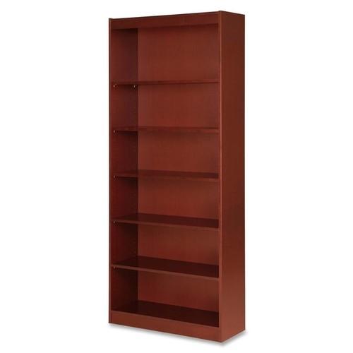Lorell LLR89055 Six-shelf Cherry Panel Bookcase