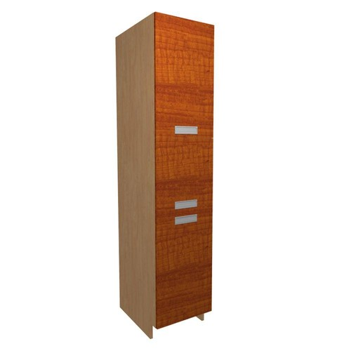 Home Decorators Collection Genoa Ready to Assemble 18 x 92 x 24 in. Pantry/Utility Cabinet with 4 Rollout Trays and 2 Soft Close Doors in Cognac
