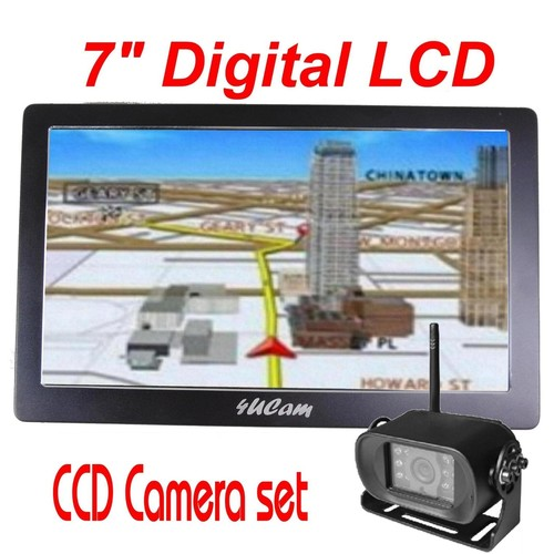 4UCam 7-inch HD Digital Touch Screen GPS with Wireless SONY CCD Camera and Bluetooth System