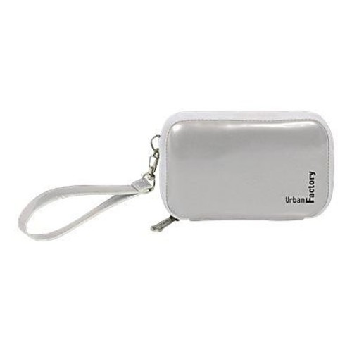 Urban Factory Vinyl Hard Disk Case With Memory Foam And Handle, Silver