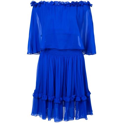 off-the-shoulders ruffled dress