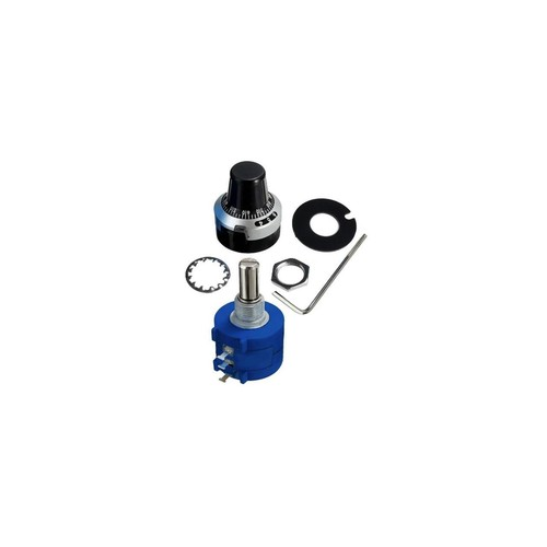 SODIAL 3590S-2-501L 500ohm Resistor Ohm Rotary Wire wound Precision Potentiometer Pot with 10 Turn Counting Dial Rotary Knob the scale knob set,blue