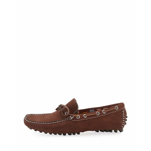 Neiman Marcus Black's Beach Laced Loafer, Brown