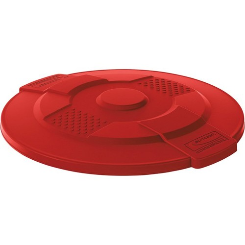 Suncast 44-Gallon Utility Trash Can Lid  Red,