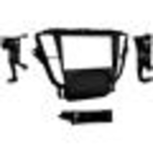 Metra 99-7808B Dash Kit (Painted matte black) Fits select 2009-14 Acura TL vehicles  single- or double-DIN radios