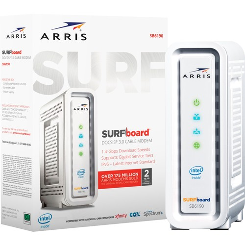 ARRIS - SURFboard DOCSIS 3.0 Cable Modem - White