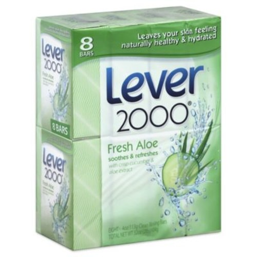 Lever 2000 8-Pack 4 oz. Clean Rinsing Bar Soap with Fresh Aloe