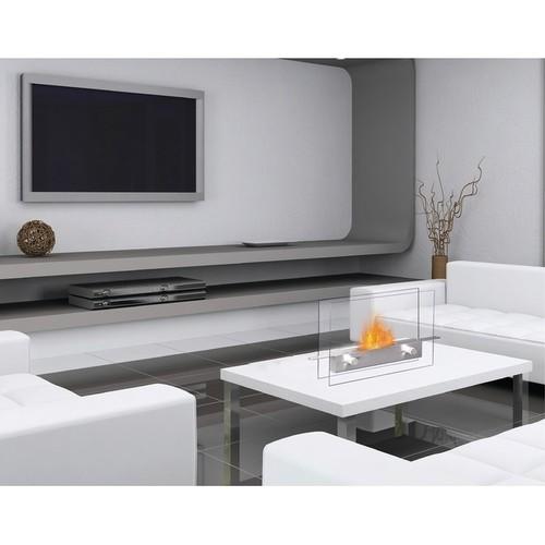 Metropolitan (Stainless Steel) Table Top Bio-Ethanol Ventless Fireplace