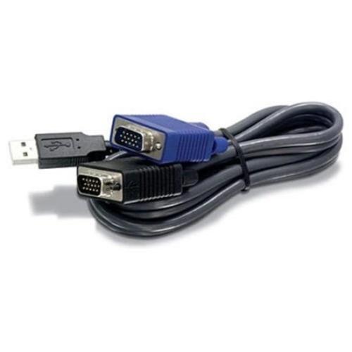 Trendnet Business Class Tk-cu06 6ft 1.83m Usb Kvm Cable For Tk-803r Tk-1603r (tkcu06)