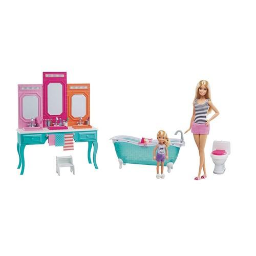 Barbie & Chelsea Bathroom Playset