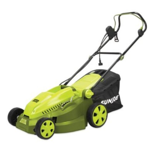 Sun Joe 15-Inch Corded Electric Lawn Mower/Mulcher in Green