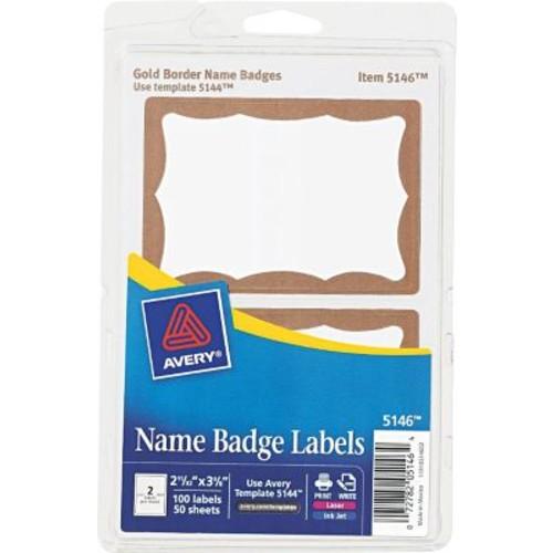 Avery Printable Self-Adhesive Name Badges, 100/Pack (5146)