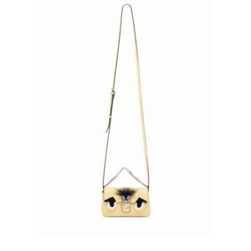 FENDI Micro Rabbit Fur, Fox Fur & Leather Baguette