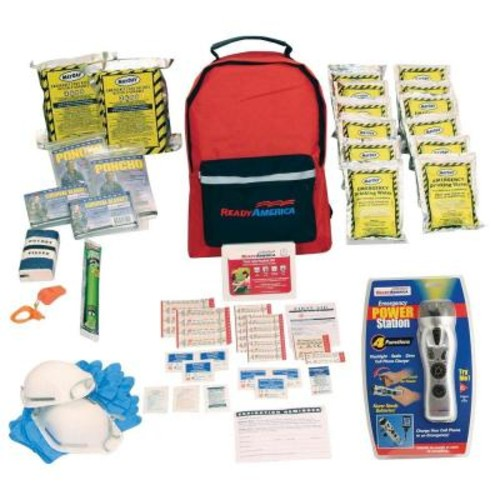 Ready America 2-Person 3-Day Emergency Kit with Backpack and Emergency Power Station