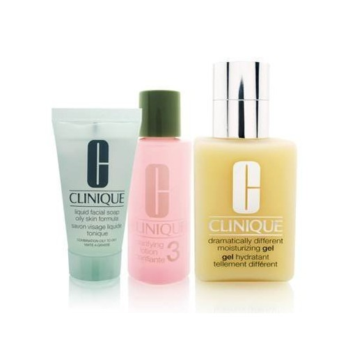 Clinique Dramatically Different Moisturizing Gel Great Skin, Great Deal 3-Step Skin Care System - Combination Oily Skin Type