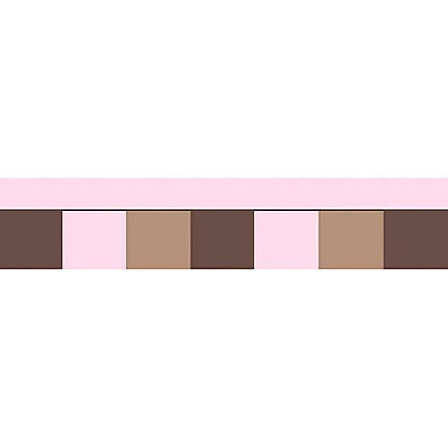 Sweet Jojo Designs Soho Wallpaper Border in Pink/Brown