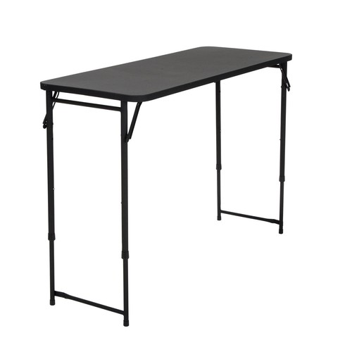 Cosco Home and Office Products 20 x 48u0026#8221; Black Adjustable Height PVC Top Table