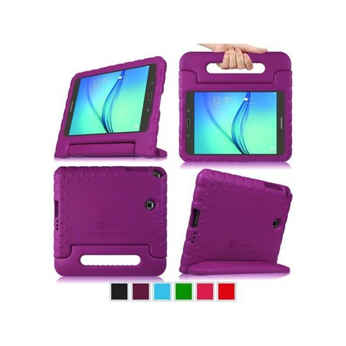 Samsung Galaxy Tab A 8.0 SM-T350 Tablet Kiddie Case - Fintie Lightweight Shock Proof Handle Stand Cover, Purple