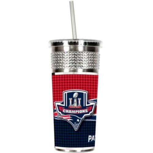 NFL New England Patriots Super Bowl LI Champions Bling Tumbler