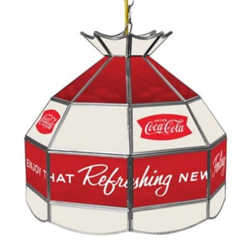 Vintage Coca-Cola Refreshing Feeling Stained Glass Pendant Billiard Lamp