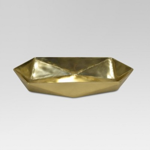 Faceted Metal Tray Gold - Project 62