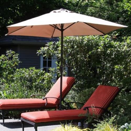 Pure Garden 9' Aluminum Patio Umbrella with Auto Crank - Tan (M150007)