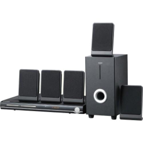 Sylvania Curtis 5.1 Channel Progressive Scan DVD Mini Bookshelf Home Theater Speaker System w/Subwoofer & Remote Control