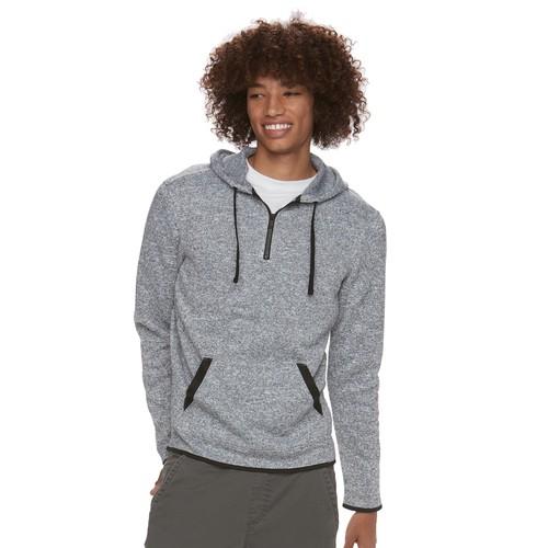 Men's Urban Pipeline Quarter-Zip Pullover Sweater Fleece Hoodie