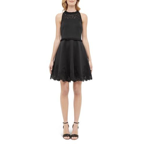 TED BAKER Ruffle-Trimmed Skater Dress